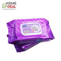 Japlo Baby Wipes Scented (Twin Packs) 80 sheets (佳儿乐新生儿手口湿纸巾 (薰衣草味 80片*2包))