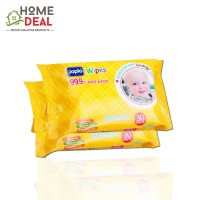 Japlo Baby Wipes Unscented (Twin Packs) 30 sheets (佳儿乐新生儿手口湿纸巾 (原味 30片*2包)