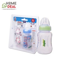 Japlo Easy Grip Feeding Bottle with 2 Silicone Nipple 140ml (佳儿乐易握防胀气手柄奶瓶)