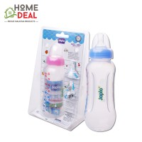 Japlo Easy Grip Feeding Bottle with 2 Silicone Nipple 250ml (佳儿乐易握防胀气手柄奶瓶)