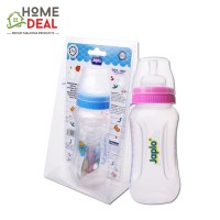 Japlo Easy Grip Feeding Bottle with 2 Silicone Nipple 360ml (佳儿乐易握防胀气手柄奶瓶)