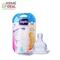 Japlo Komforter Silicone Nipple XL - 3pcs (佳儿乐自然实感新生婴儿宽口径奶嘴 XL码-3套装)