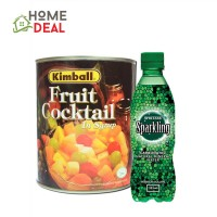 KBL Fruit Cocktail 825g + Spritzer Sparkling Mineral Water 325ml (Kimball 水果罐头热带杂果 825克+Spritzer有气矿泉水325毫升)