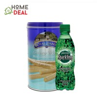 Royal Dansk Vanilla Wafer 300g + Spritzer Sparkling Mineral Water 325ml  (丹麦屋进口香草威化饼干 300克 + Spritzer有气矿泉水325ml)