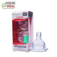 Japlo Nane Silicone Nipple L - 2pcs (佳乐儿 宽口径專利防脹氣奶嘴 L码)