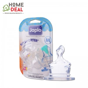 Japlo Komforter Orthodontic Nipple M - 2pcs (佳儿乐 奶嘴中圆孔大号 M码)