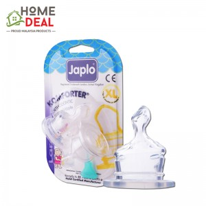 Japlo Komforter Orthodontic Nipple XL - 2pcs (佳儿乐 奶嘴大圆孔大号 XL码)