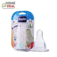 Japlo Superior Silicone Nipple L - 3pcs (佳儿乐 奶嘴圆孔L号快流量3只装)