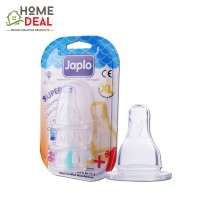 Japlo Superior Silicone Nipple XL - 3pcs (佳儿乐 奶嘴圆孔XL号快流量3只装)