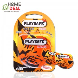 Playsafe Easy Pack Dotted 2's (PLAYSAFE 避孕套润滑凸点情趣2片装)