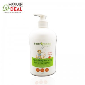 Baby Organix Kids & Family Nourishing Top to Toe Cleanser 400ml (Peach) (Baby Organix家庭身体肥皂-桃子)