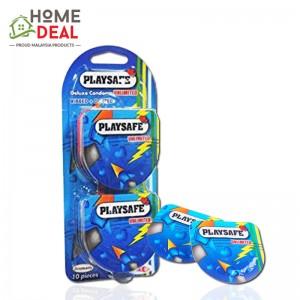 Playsafe Easy Pack Ribbed + Dotted 10\'s (Playsafe避孕套螺纹+凸点10片装 )