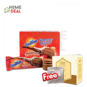 Ovaltine Cookies Multipack 12pack + Free 1 Sachet Rhymba Hills Exquisite Blend (阿华田巧克力麦芽曲奇饼干12包+免费一包Rhymba Hills Exquisite Blend茶)