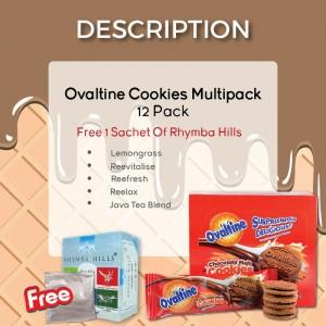 Ovaltine Cookies Multipack 12pack + Free 1 Sachet Rhymba Hills (阿华田巧克力麦芽曲奇饼干12包+免费一包Rhymba Hills茶)