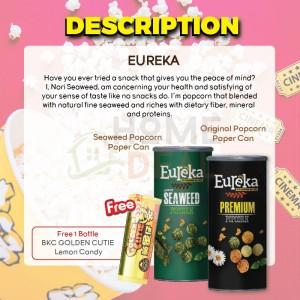 Eureka Seaweed and Original Popcorn Flavor with Free 1 Bottle BKC Golden Cutie Lemon Candy 有礼佳双口味优惠 免费马马廣济黄金仔糖果
