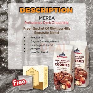 Merba Patisserie Dark Chocolate and Hazelnut Cookies 2x Free 1 Sachet Rhymba Hills Exquisite Blends