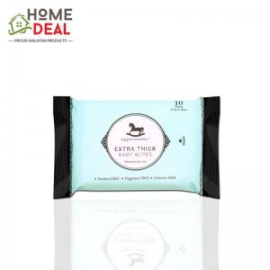 Applecrumby Extra Thick Premium Baby Wipes 10's 婴儿专用植物精粹湿巾(特厚片装)10片