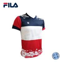 FILA Jersey-T (Red) - RN0003 斐乐款舒适休闲透气耐磨运动短上衣 (红色)