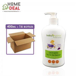 Baby Organix - Extra Gentle Top-To-Toe Cleanser - Grape - 400 ml x 16 bottles (Wholesale)