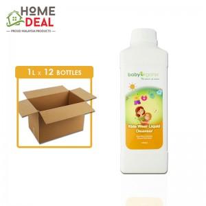 Baby Organix - Kids Wear Liquid Cleanser - 1 Liter x 12 bottles (Wholesale)