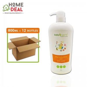 Baby Organix - Baby Feeding Bottle Wash - 800 ml x 12 bottles (Wholesale)