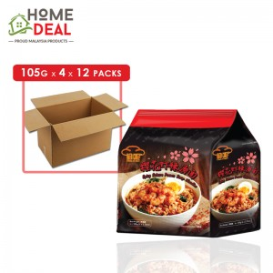 Red Chef - Spicy Sakura Prawn Noodles - 4 x 105 grams x 12 packs (Wholesale)