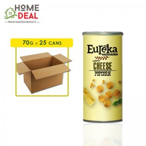 Eureka - Popcorn Paper Can Cheese - 70 grams x 25 cans (Wholesale)