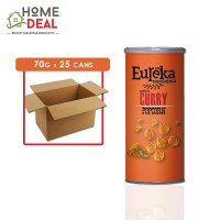 Eureka - Popcorn Paper Can Curry - 70 grams x 25 cans (Wholesale)