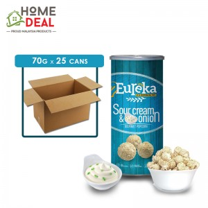 Eureka - Popcorn Paper Can Sour Cream & Onion - 70 grams x 25 cans (Wholesale)