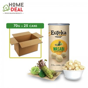 Eureka - Popcorn Paper Can Wasabi - 70 grams x 25 cans (Wholesale)