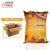 Eureka - Popcorn Aluminium Pack Classic Caramel - 80 grams x 24 packs (Wholesale)