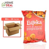 Eureka - Popcorn Aluminium Pack Hot & Spicy - 80 grams x 24 packs (Wholesale)