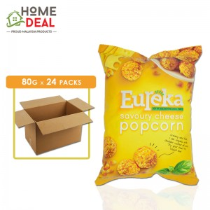Eureka - Popcorn Aluminium Pack Savoury Cheese - 80 grams x 24 packs (Wholesale)