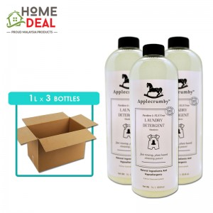 Applecrumby - Laundry Detergent - 1 Liter x 3 bottles (Wholesale)