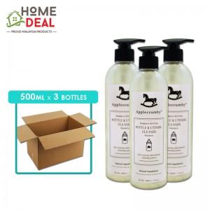Applecrumby - Bottle & Utensil Cleaner - 500 ml x 3 bottles (Wholesale)