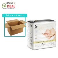 Applecrumby - Chlorine Free Tape Diapers size-S 24pcs x 6 packs (Wholesale)