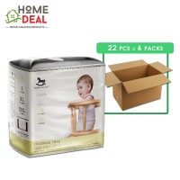 Applecrumby - Chlorine Free Pull-up Diapers size-M 22pcs x 6 packs (Wholesale)
