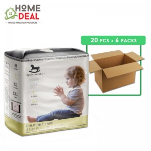 Applecrumby - Chlorine Free Pull-up Diapers size-L 20pcs x 6 packs (Wholesale)