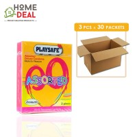 Playsafe - Assorted Deluxe Condoms 3's x 30 boxes (Wholesale)