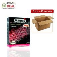 Playsafe - Studded Deluxe Condoms 3's x 30 boxes (Wholesale)