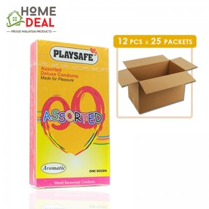 Playsafe - Assorted Deluxe Condoms 12's x 25 boxes (Wholesale)