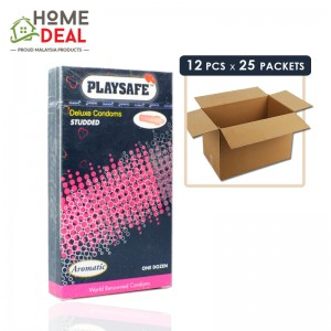 Playsafe - Studded Deluxe Condoms 12's x 25 boxes (Wholesale)
