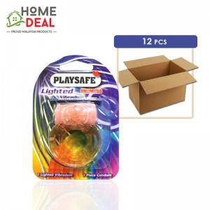 Playsafe - Easy Pack Lighted Vibradom 12pcs (Wholesale)