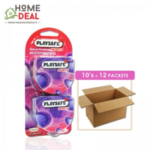 Playsafe - Easy Pack Long love + Ribbed 10's x 12 packs (Wholesale)