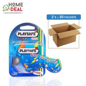 Playsafe - Easy Pack Ribbed + Dotted 2's x 30 packs (Wholesale)