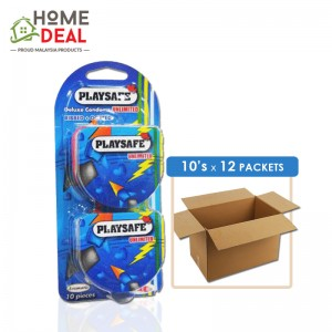 Playsafe - Easy Pack Ribbed + Dotted 10's x 12 packs (Wholesale)