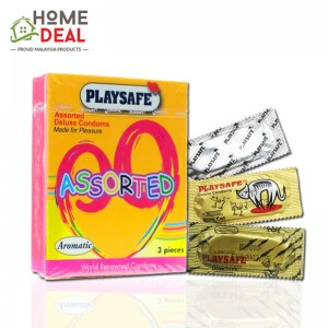 Playsafe - Assorted Deluxe Condoms 3's
