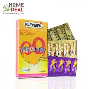 Playsafe - Assorted Deluxe Condoms 12's
