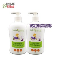Baby Organix Extra Gentle Top To Toe Cleanser 400ml Twin Pack (Grape)
