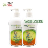 Baby Organix Extra Gentle Top To Toe Cleanser 400ml-CUCUMBER (TWIN PACKS)